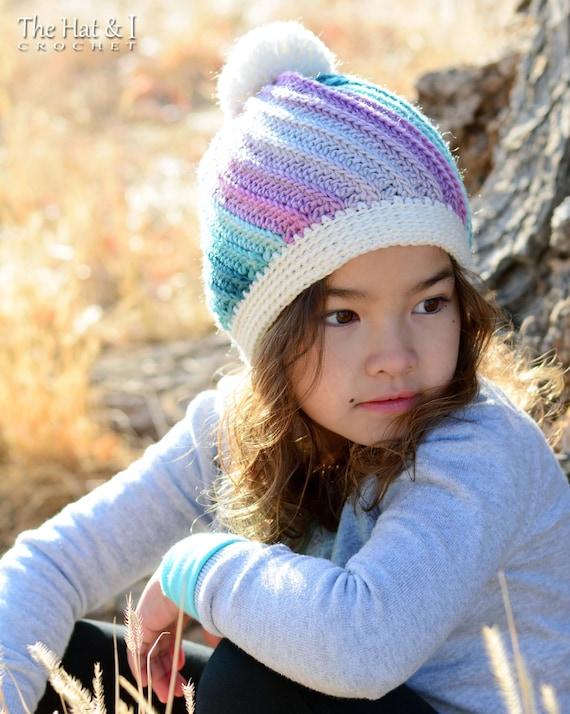 Crochet Pattern Twist Top Beanie Crochet Hat Pattern