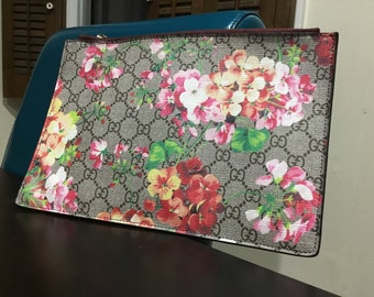 Bloom pouch floral clutch leather