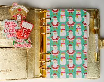 Santa & Snowman Personal, A5, A6, B6 and Pocket Size Planner Dashboards