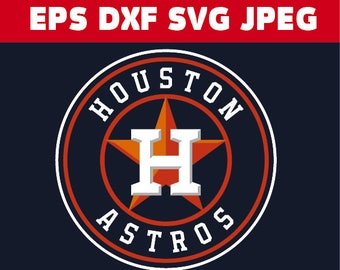 Houston Astros logo in SVG / Eps / Dxf / Jpg files INSTANT DOWNLOAD!