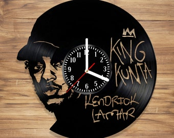 Kendrick Lamar Vinyl Record Wall Clock Rapper Rap King Music Perfect Art Decorate Home Style UNIQUE GIFT idea for Him Her (12 inches)