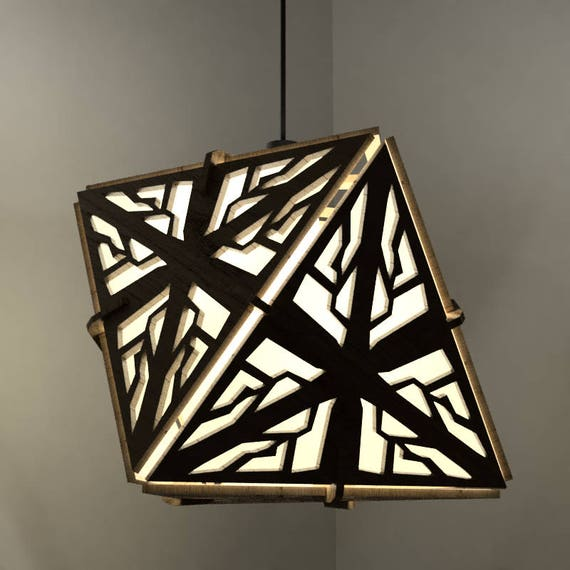 Octahedron Lamp - Hanging Ceiling Pendant