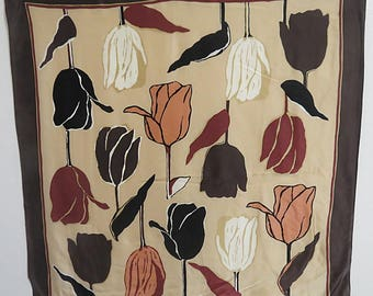 "Silk Scarf  Extra Large Echo  33"" X 34""  #032"