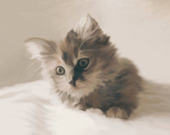 Kitten Print, Cat Gift, Cat Print, Cat Wall Art, Wall Print, Cat Lover Gift