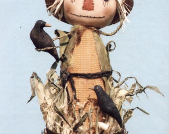 Primitive PATTERN Corny Scarecrow