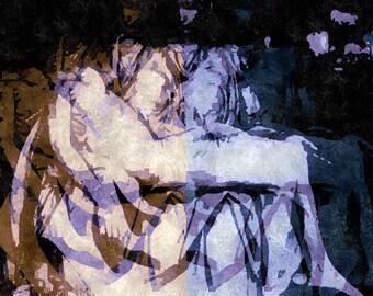 FAITH Limited Edition Giclee Art Print Abstract based on the PIETA sculpture in Rome canvas or photorag wall art decor modern style