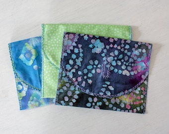Reusable Fabric Sandwich Bags with Ripstop Nylon and a Velcro Flap