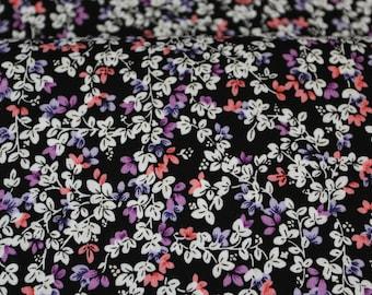 Viscose challis floral print - 50 cm