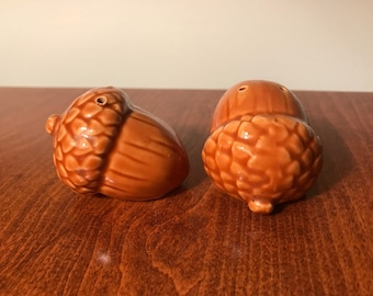 Perfect Vintage Acorn Salt And Pepper Shakers Ceramic Su0026P Set 70u0027s Kitchen Decor Pictures Gallery