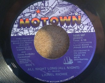 Lionel Richie All Night Long Vinyl 45 rpm Record