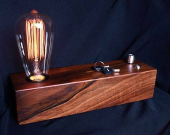 Shadow box edison lamp table lamp desk lamp bedside edison lamp edison bulb vintage lamp industrial lamp birthday gift decorative lamp steampunk lamp handmade lamp table lamp desk lamp rustic aloadofball Images