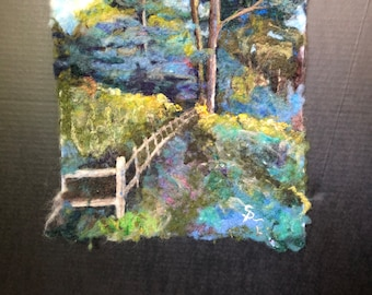 A Country Evening   -Felted Wool Landscape Painting
