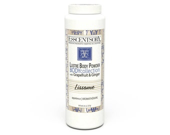 LISSOME Lustré Body Powder | Body Fragrance | Grapefruit & Ginger | Pure Essential Oils | Natural Body Powder