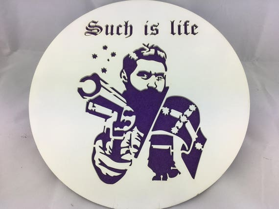 FREE SHIPPING Australia Wide....  Wall plaque... Ned Kelly.  Such is Life.