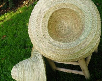 Natural Hat - Hat - hat of straw - straw hat MARRAKECH palm leaves