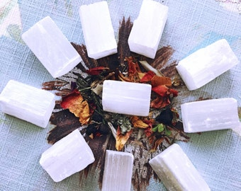 RAW SELENITE CRYSTAL Chunks - Healing Crystals, Meditation, Crystal Grids, Metaphysical, Spirit Guides, Crown Chakra, Magick, Witchcraft