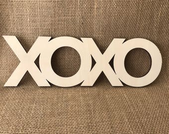 XOXO laser cut word for DIY Crafts