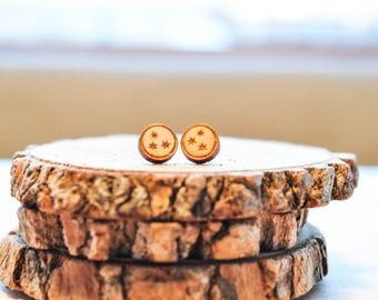 Lasercut Harry Potter Page Stars Baltic Birch Stud Earrings | HP Stars | HP earrings | Potter gifts