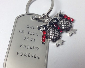 Owl Be Your Best Friend Forever Keychain