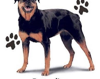 Rottweiler T Shirt, Dog, Quilt Fabric Block, Tote Bag, Apron, Tote Bag, (Sweatshirt,  Hoodie Available On Request)  #902b