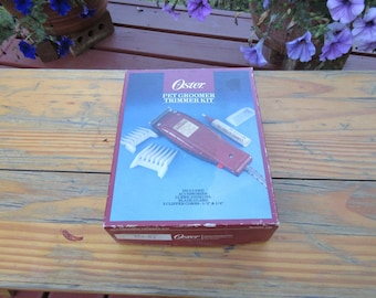 Oster Pet Groomer Trimmer Clippers in Box with Paperwork Model 123