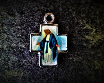 Miraculous Virgin 16 X 23 mm cross
