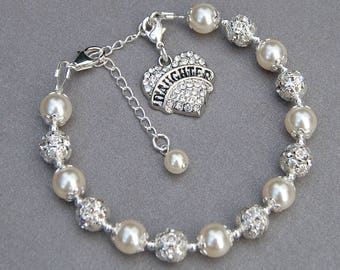 Daughter Jewelry, Daughter Charm Bracelet, Mother Daughter Jewelry, Father Daughter Gift, Daughter Gift Idea, Under 30, Daughter Present