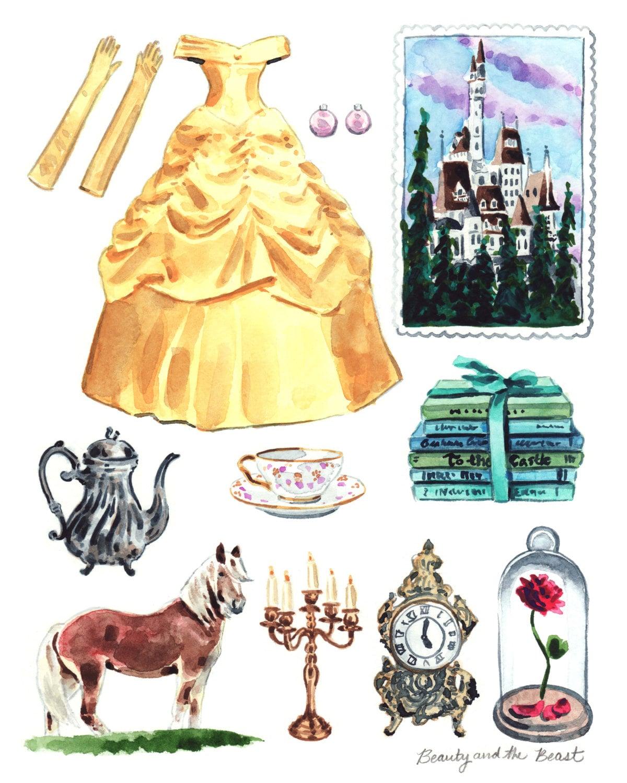 Beauty and the Beast Art Belle Costume Disney Princess Art