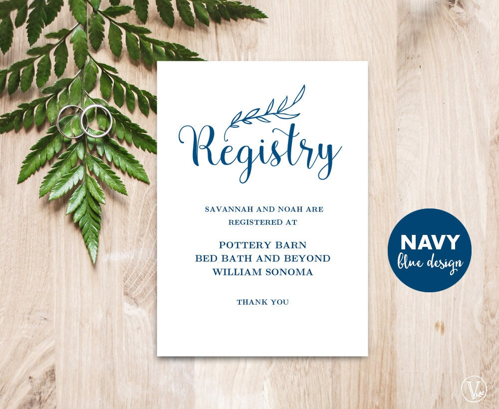 Wedding Registry Card Examples: Gift Registery Card Template Printable Wedding Registry Card