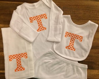 Tennessee Vols Checkered Board Power T Baby Gift Set