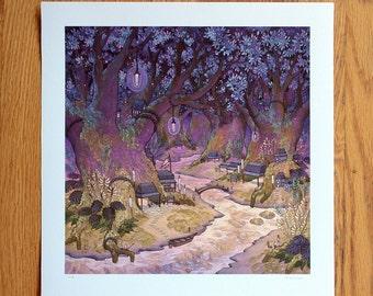 Twilight Mosslands - Print