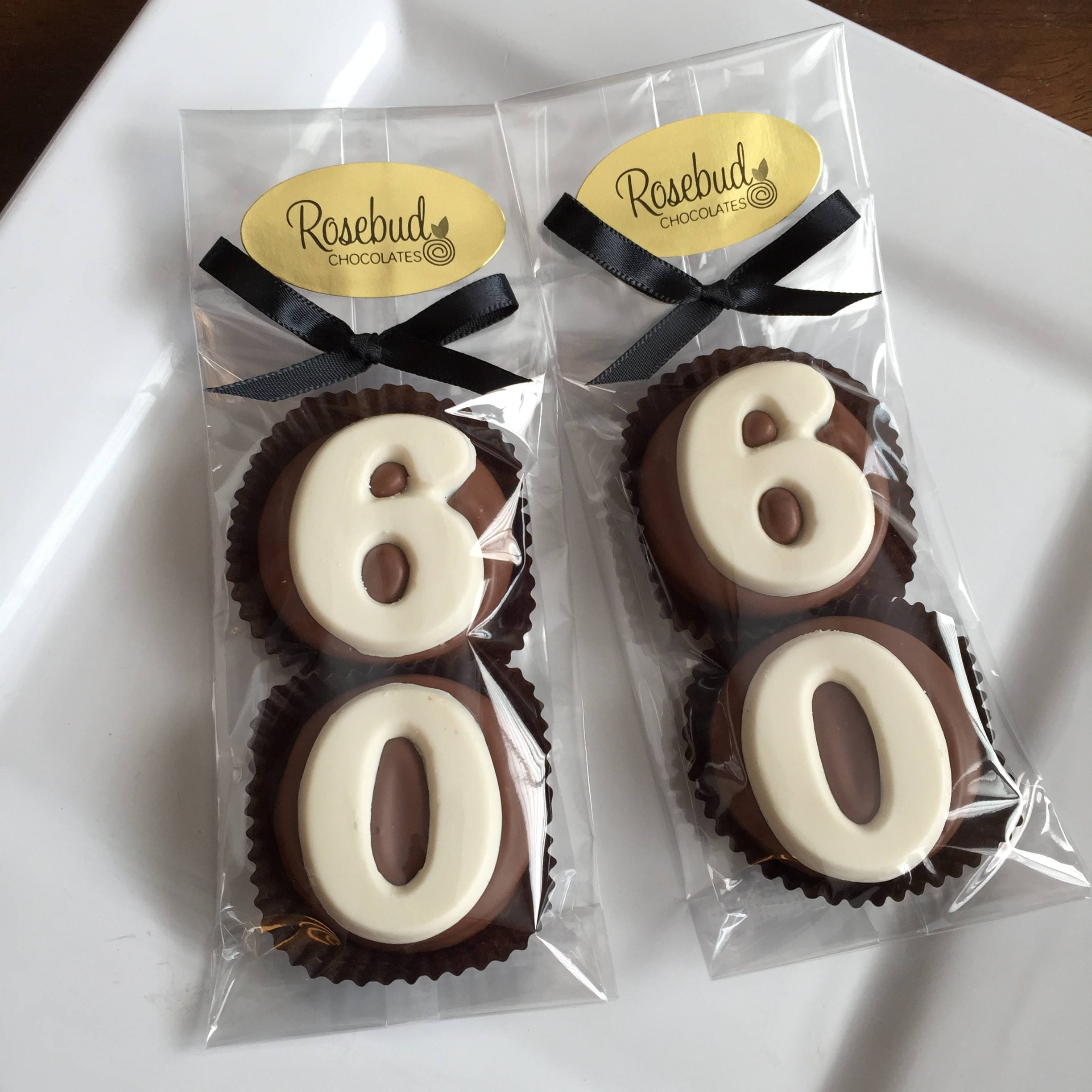 Chocolate Covered Oreo Cookie Candy Party Favors Number Sixty