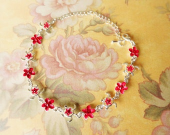 Jewelry Making Ankle Kits - Hawaiian Flowers and Turtles.