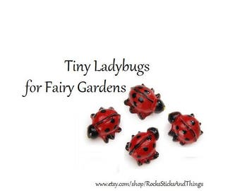 Fairy Garden Ladybugs, Miniature