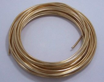 "16 GA (.050"")  Round Brass Wire 1/4lb Coil"