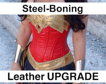 Leather and Steel-Boning Corset UPGRADE