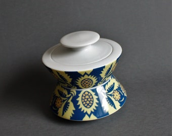 Rosenthal Studio Line -  Pattern DRAP - Art Modern Porcelain - Unique Decorative Bowl / Vase -  design by MARCO ZANINI -1990's