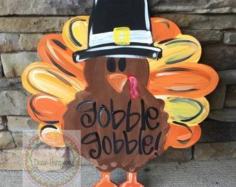 Turkey Door hanger   fall door hanger   thanksgiving door hanger   thanksgiving wreath   turkey door sign   door hangers & Thanksgiving door   Etsy