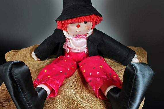 Soft Cloth, Sad Doll, Hobo, Clown, Enesco