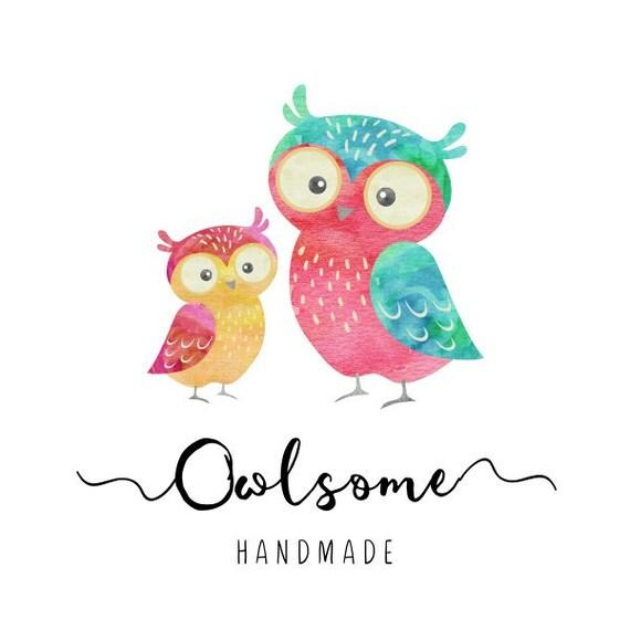 Premade Logo Design Owl Logo Baby Shower Signs Nursery Birds