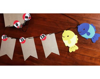 """O""""fish""""ally One First Birthday Photo Banner"""