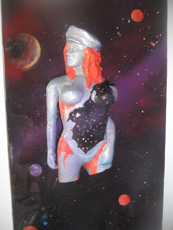 3d Psychedelic Wall Hanging Surreal Sexy Woman Space