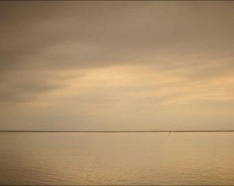 Not A Word, original fine art photography, print, landscape, nature, 8x12, elie, fife, scotland, sea, water, minimalist, dusk, cloud