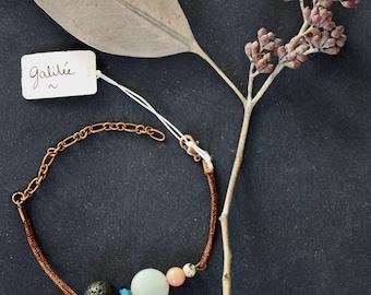 Bracelet beads and semi-precious stones