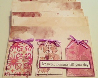 "Handmade ""Let Sweet Moments Fill Your Day"" Greeting Card"
