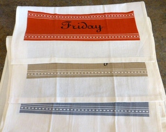 Sale--7 Days of The Week Dish Towels