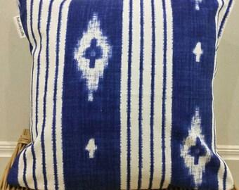 Designer Blue White Cushion Cover