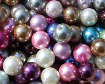 330 glass beads 10 mm or mixed color