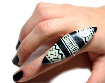 African ring, Tribal ring, Africa jewelry, Ethnic jewelry, Polymer clay ring, Tribal jewelry, Ethnic ring, African, Boho rings, Boho jewelry