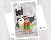 Batdog and Robcat Postcar...